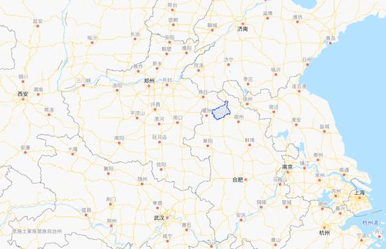 永城区域位置示意   图片来源:百度地图